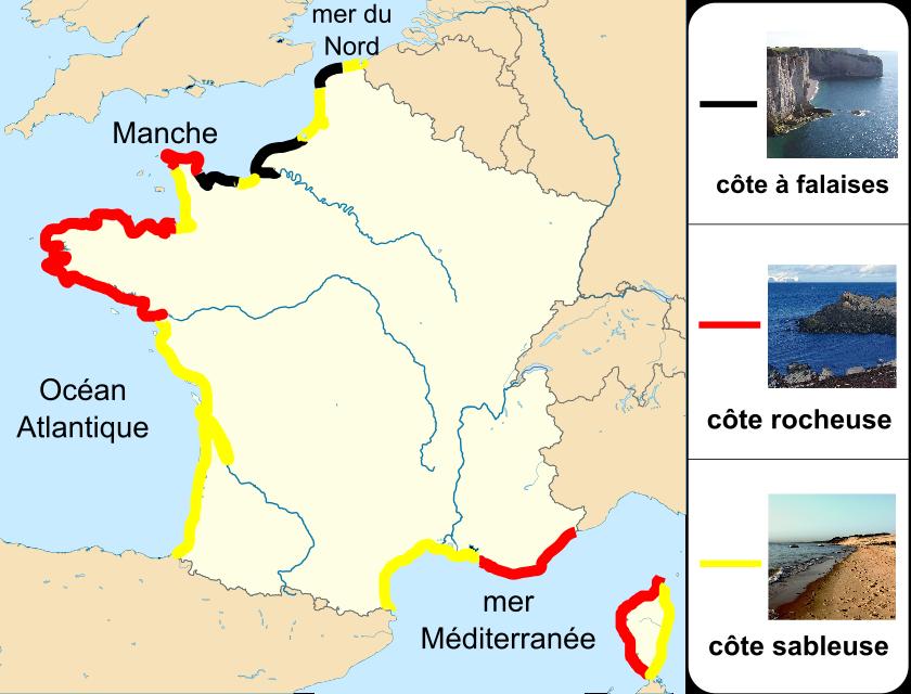 côtes françaises